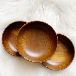 Vintage Margaret Studios Set of 3 Wooden Bowls